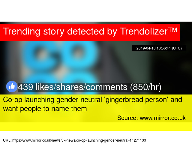 Co-op launching gender neutral 'gingerbread person' and want