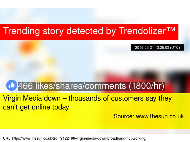 Virgin Media down – thousands of customers say they can'