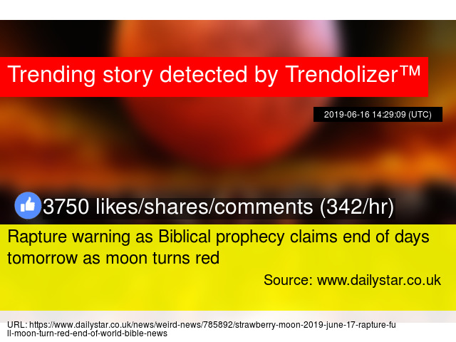 Rapture warning as Biblical prophecy claims end of days tomorrow as
