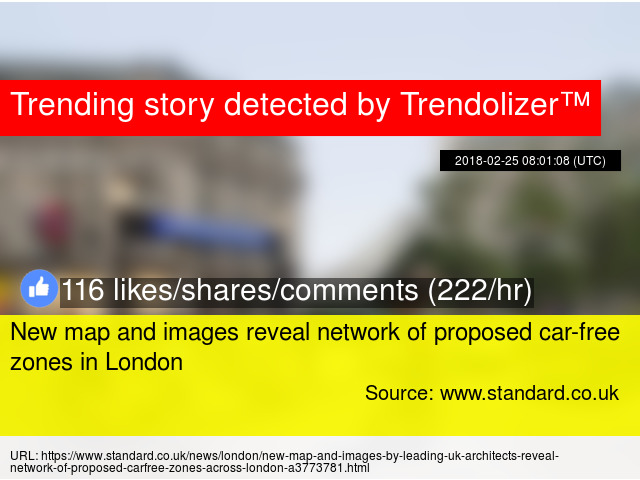 New Map And Images Reveal Network Of Proposed Car Free Zones In London