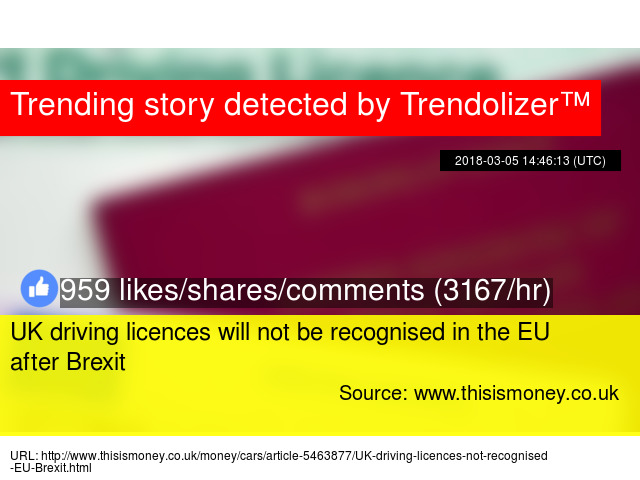 uk driving licence after brexit