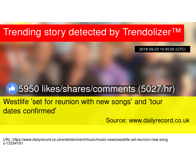 Westlife 'set for reunion with new songs' and 'tour dates