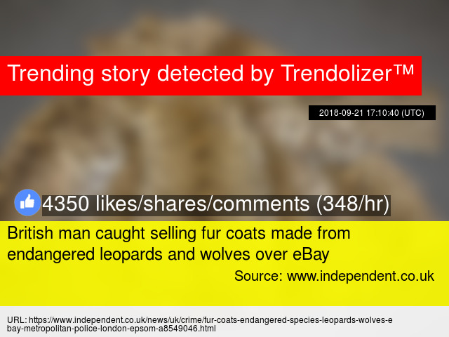 c77777f92403 British man caught selling fur coats made from endangered leopards and  wolves over eBay