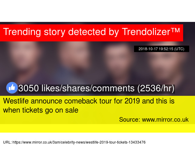 Westlife announce comeback tour for 2019 and this is when